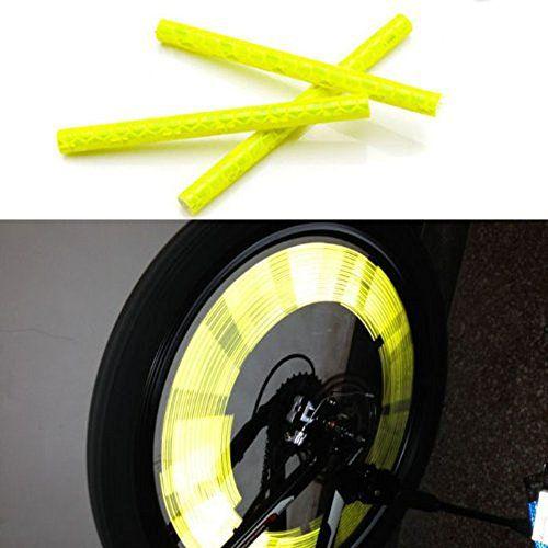Bicycle Wheel Spoke Reflector Reflective Mount Clip Wheel Rim Spoke Bike Cycling Mount Strip Reflector Warning Light Tube