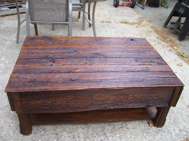 Custom Barn Board Coffee Table Just finished it today Lots of
