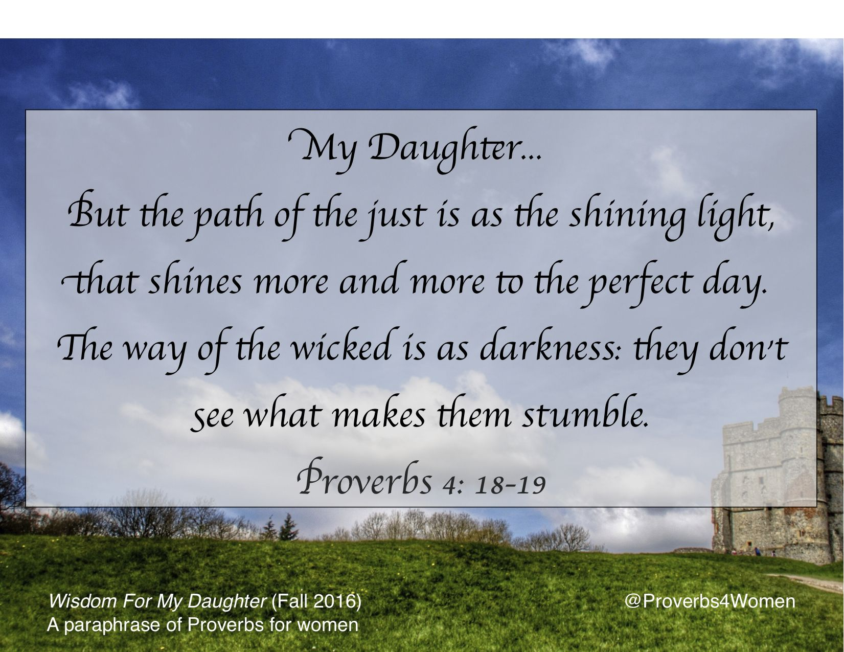 Light Shine Proverb 4 18 19 Book Of Paraphrase For My Daughter
