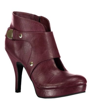 Another great find on #zulily! Bordeaux File Type Bootie #zulilyfinds