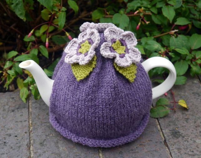 Tea Cosy Purple Flowers … | Home goodies | Pinterest | Teteras, Hora ...