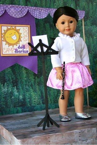 9 Crafts For Your 18″ American Girl Dolls #americangirldollcrafts