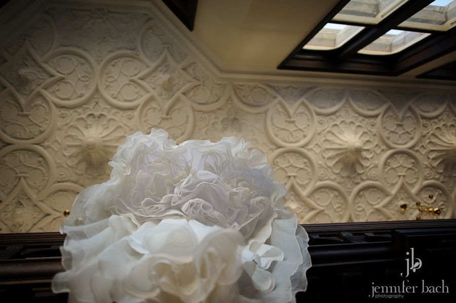 Dress and architectural details at a Branford House wedding