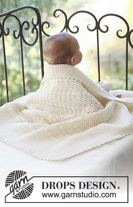 Princess Chantilly / DROPS Baby 18-30 - Frazada de punto para bebé ...