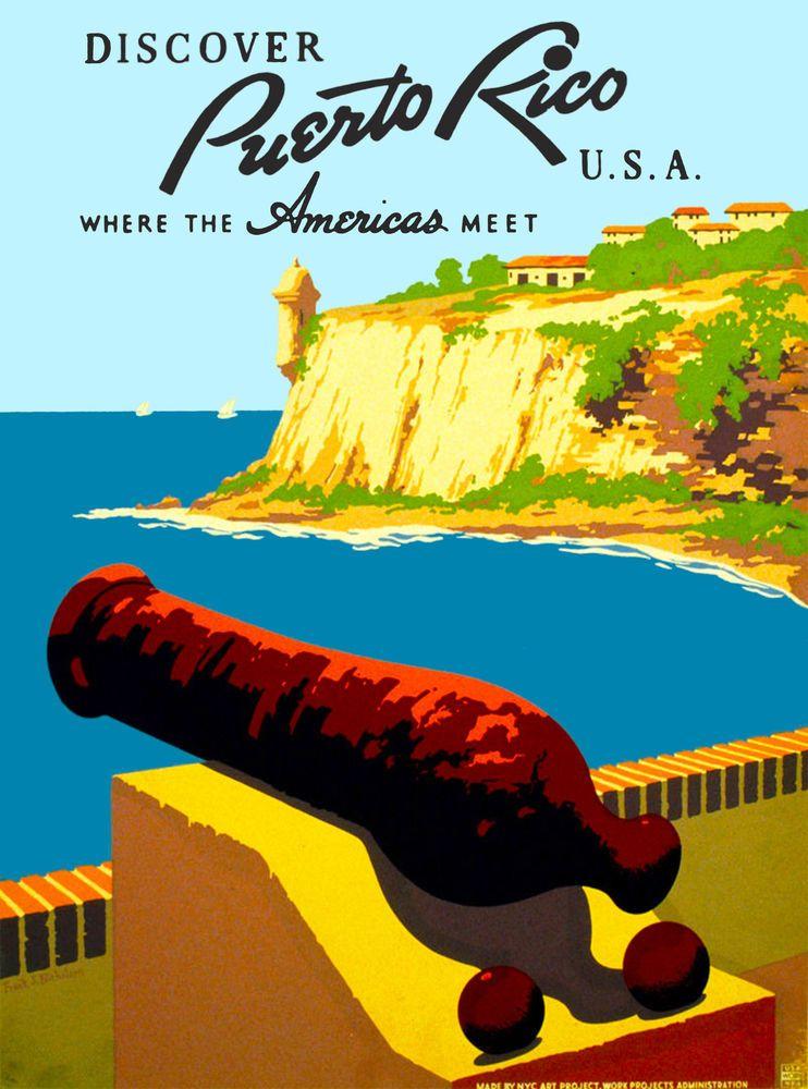 1930s United States Visit Puerto Rico Vintage Travel