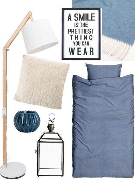 Perfekt fürs Schlafzimmer Blau trifft Taubengrau Taubengrau