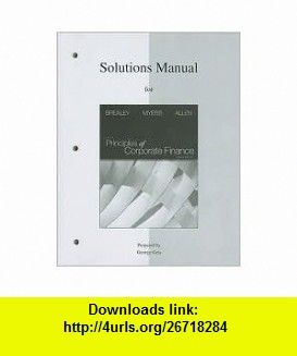 Solutions manual to accompany principles of corporate finance 10th solutions manual to accompany principles of corporate finance 10th tenth edition text only richard fandeluxe Images