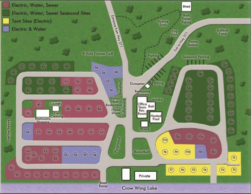 Large Layout Of Campground Lakeside Camping Campground Tent Site