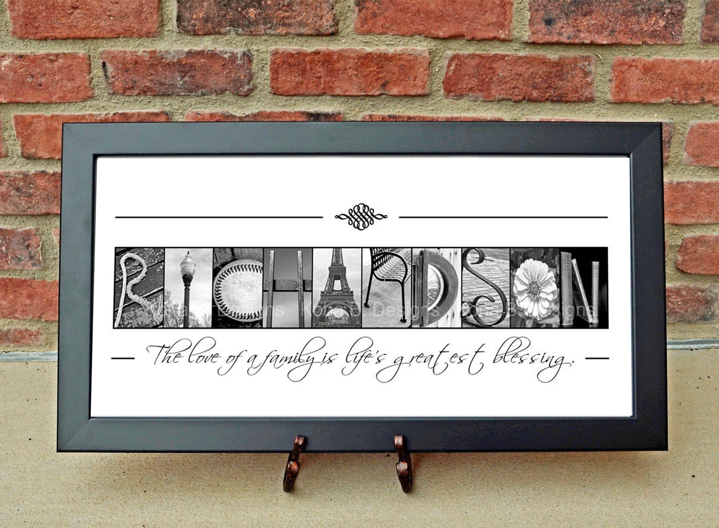 Custom Family Name Sign Alphabet Photography Creative Letter Art