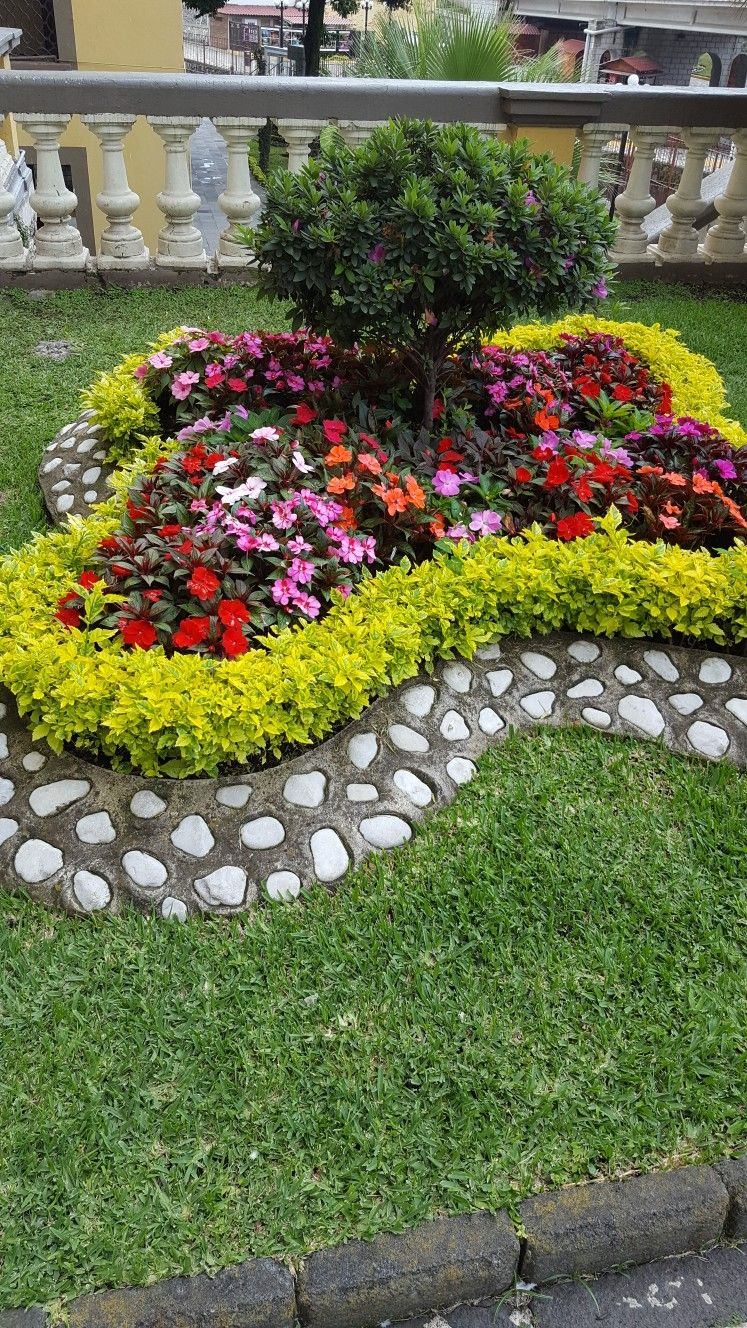 i like the flowers not the border gardeny idears garten deko ideen garten g rtnern. Black Bedroom Furniture Sets. Home Design Ideas