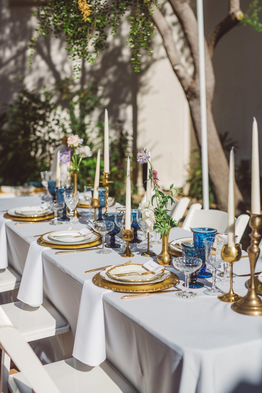 Alfresco Romance Meets Vintage In California Santa Barbara Anna Delores Photography Dj Blue Glassware Vintage Rentals
