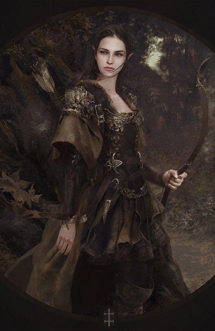 Waldelfe by eve ventrue on artstation fantasy fantasy - Fantasy female warrior artwork ...