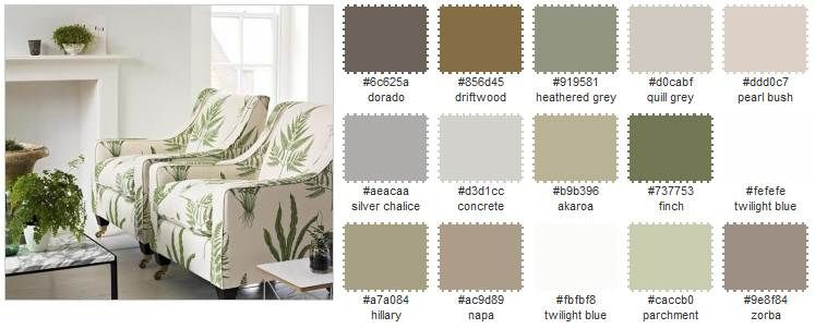 Neutral Interior Paint Color Schemes SUTTER SampleBoard For