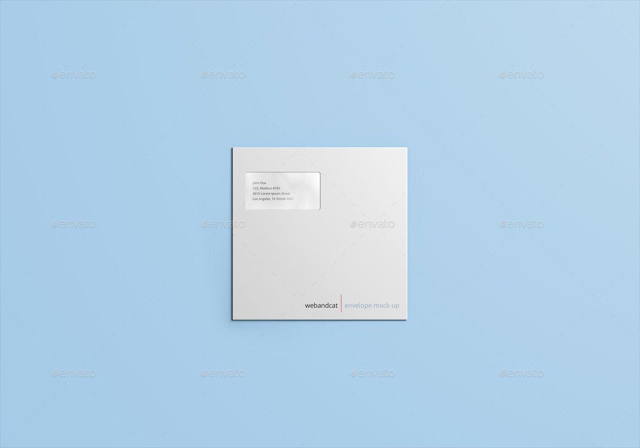 Square Envelope Mock Up Square Envelopes Envelope Design Presentation Template