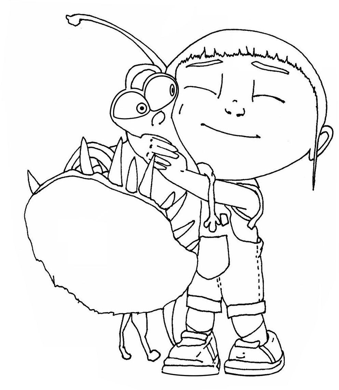 Kids Under 7: Despicable me Coloring pages | Craft ideas | Pinterest ...