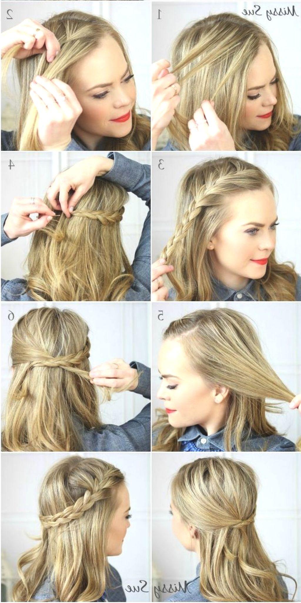 17 Darn Cool Hairstyles For Medium Length Hair Step By Step Easy Hairstyles Medium Hair Styles Medium Length Hair Styles