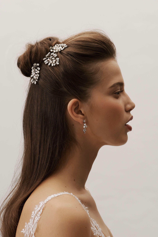darcy hair pins from @bhldn #weddinghairstyles   发型
