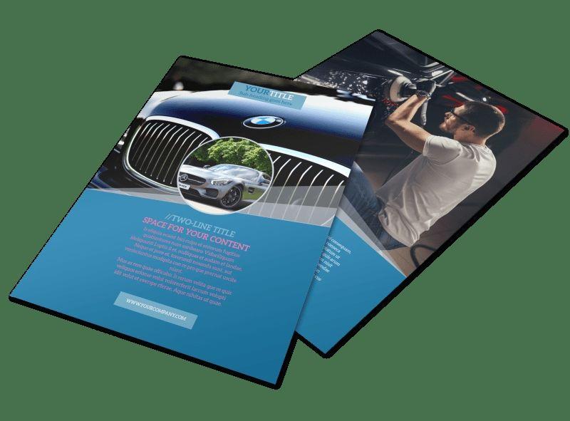 Auto detailing flyer templates auto detailing flyer
