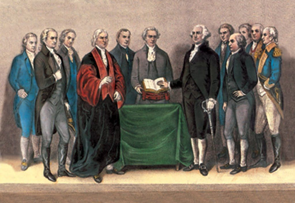 Inauguration of George Washington - April 30, 1789, by Currier & Ives