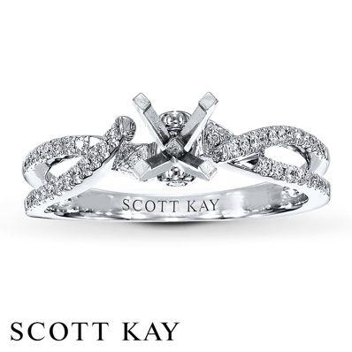 Scott Kay Ring Setting 1 8 Ct Tw Diamonds 14k White Gold