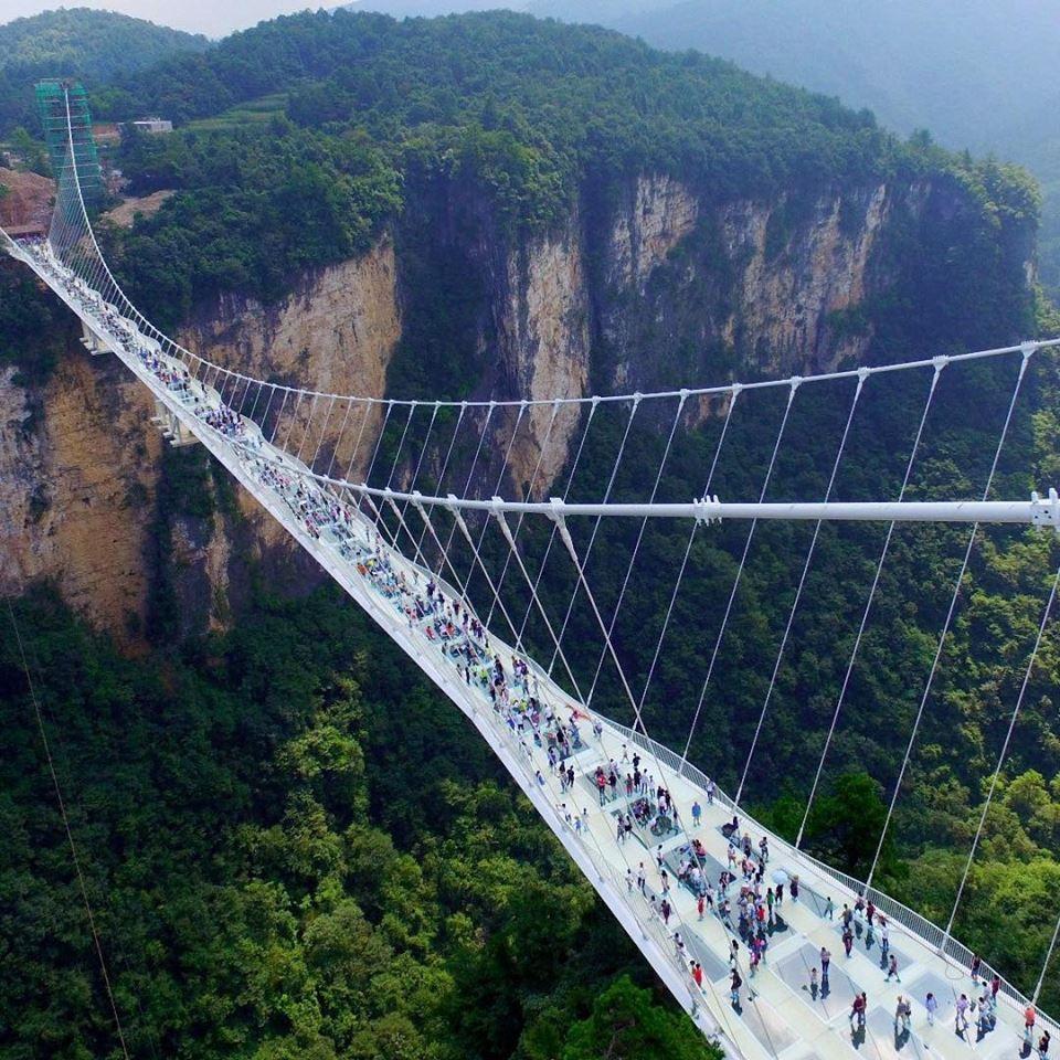 Zhangjiajie Glass Bridge Also Called Zhangjiajie Grand Canyon