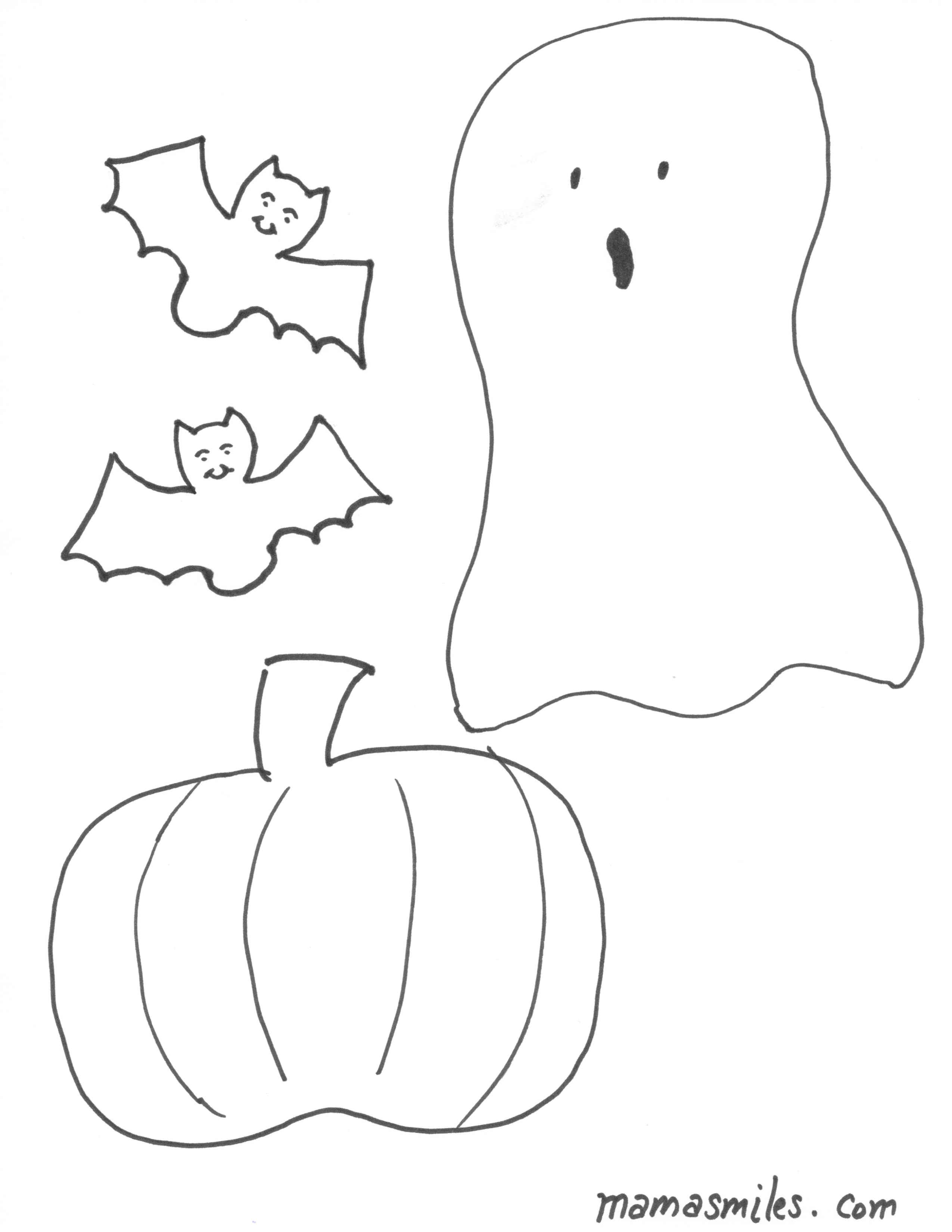 Halloween Coloring Pages and Halloween Felt Board Shapes