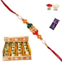 Send #Rakhi #Gifts to #USA Kaju Kalash #Sweet with #Fancy Bead Rakhi and #Shagun Elements at http://www.rakhistoreonline.com/rakhi-with-sweets/kaju-kalash-sweet-with-fancy-bead-rakhi-and-shagun-elements.html