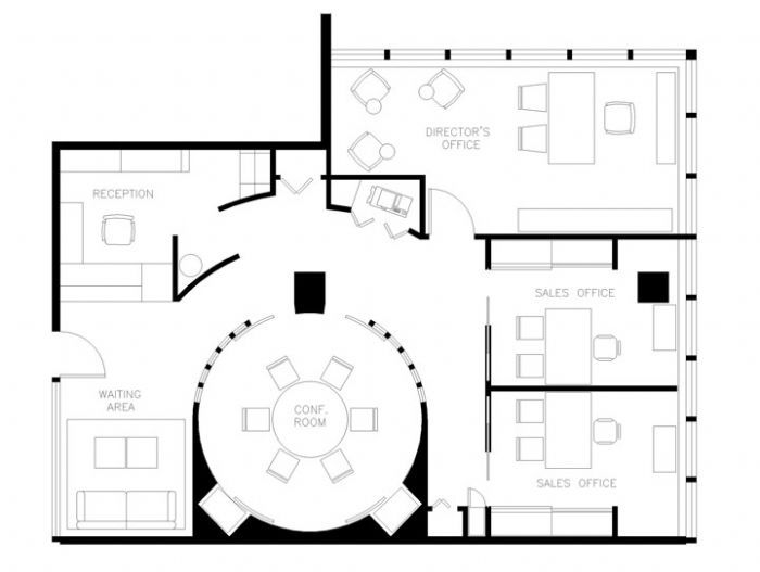 Small office floor plan small office floor plans for Office desk layout planner