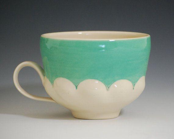 jade scallop cup