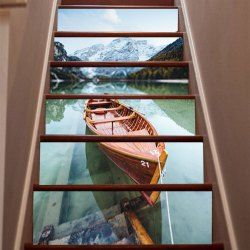 Landscape Of Thailand Style Stair Sticker Wall Decor   Mixed Color 108 X  100cm DSU Holiday | Stair Riser Art | Pinterest | Stickers Online, Wall  Decor And ...
