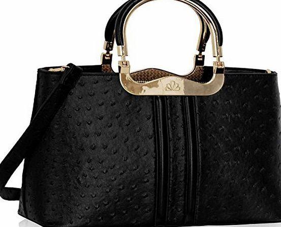 bcc201c15ff1 TrendStar Ladies Designer Handbags Ostrich Womens Shoulder Bags Tote  Shoulder Celebrity (Brown Ostrich Bag)