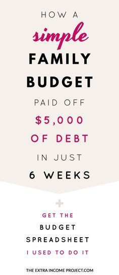 How a simple family budget paid off $5000 of debt in 6 weeks - family budget project