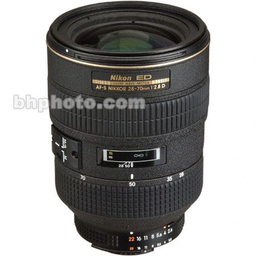 Nikon Zoom Wide Angle Telephoto Af S Zoom Nikkor 28 70mm F 2 8d Ed If Autofocus Lens Black This Is An Older Lens That Would Need To B Nikon Lens Wide Angle