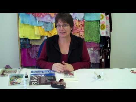 Image Transfer with water soluble paper (Sulky brand) by Liz Kettle