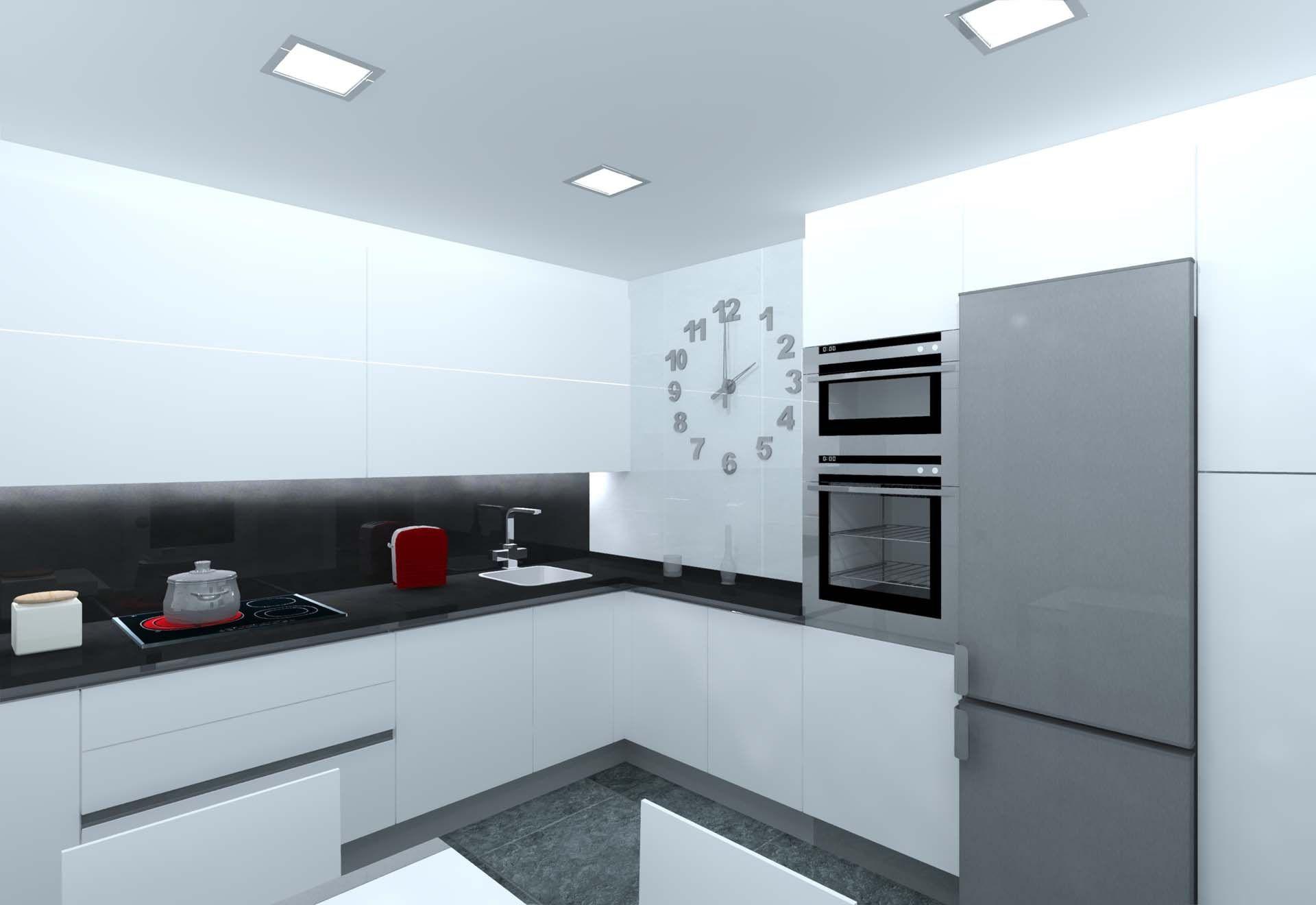 Cocina Blanco Mate Con Gola De Aluminio El Diseno De Esta Cocina