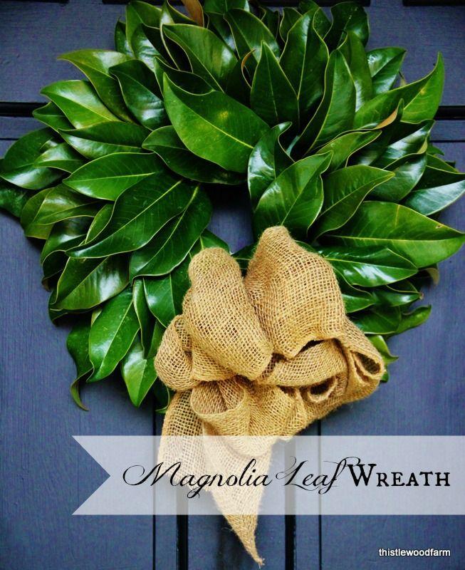 Magnolia Leaf Wreath12 Days Of Christmas Day 3 Wreath