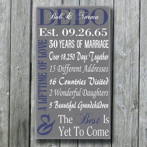 Personalized 50th 30th 35th 40th 45th Anniversary Gift Vow