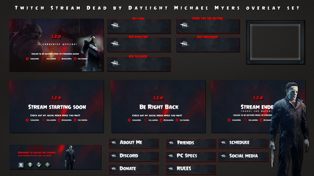 Halloween 2020 Stream Michael Myers Twitch Stream Dead by Daylight Michael Myers overlay s   Donnie