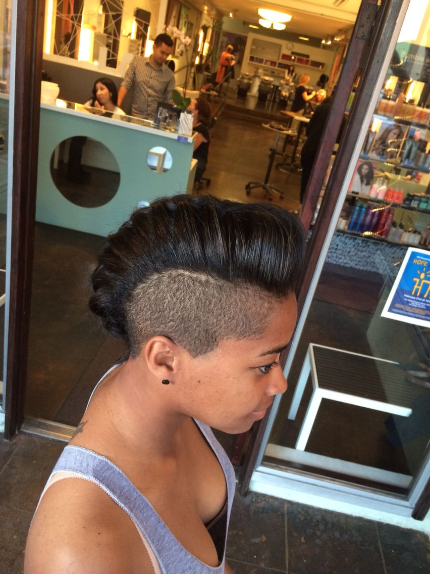 Simple shaved sides and braided mohawk hair hair baby pinterest