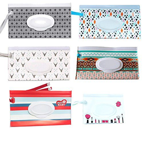 Reusable Portable Baby Wet Wipe Case Pouch Dispenser Baby Wet Wipe Travel Cases