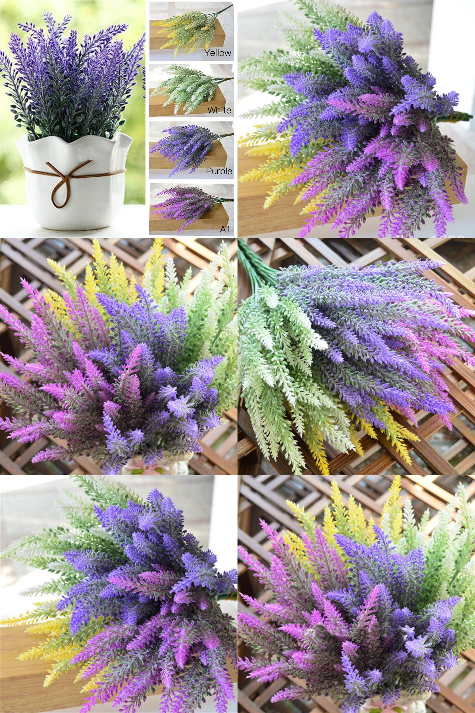 Visit To Buy 1 Piece Romantic Provence Decoration Lavender Flower Silk Artificial Flowers Grain Decorative Simula Artificial Flowers Lavender Flowers Flowers