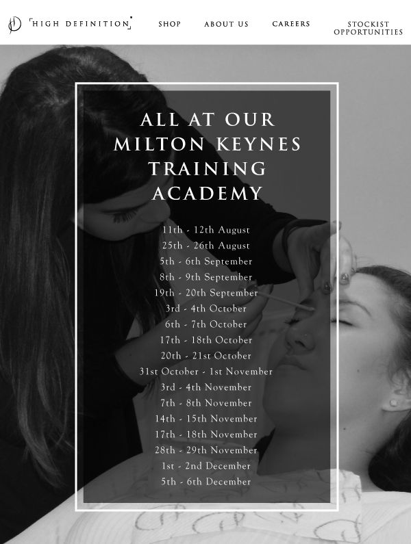 Hd Brows Training 2016 Available Dates At Our Milton Keynes Academy