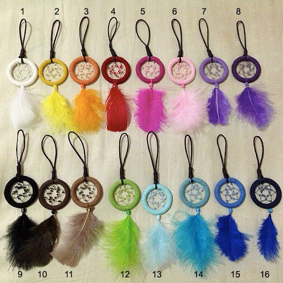 Mini Dreamcatcher Keychains by Threadreams on Etsy, $10.00