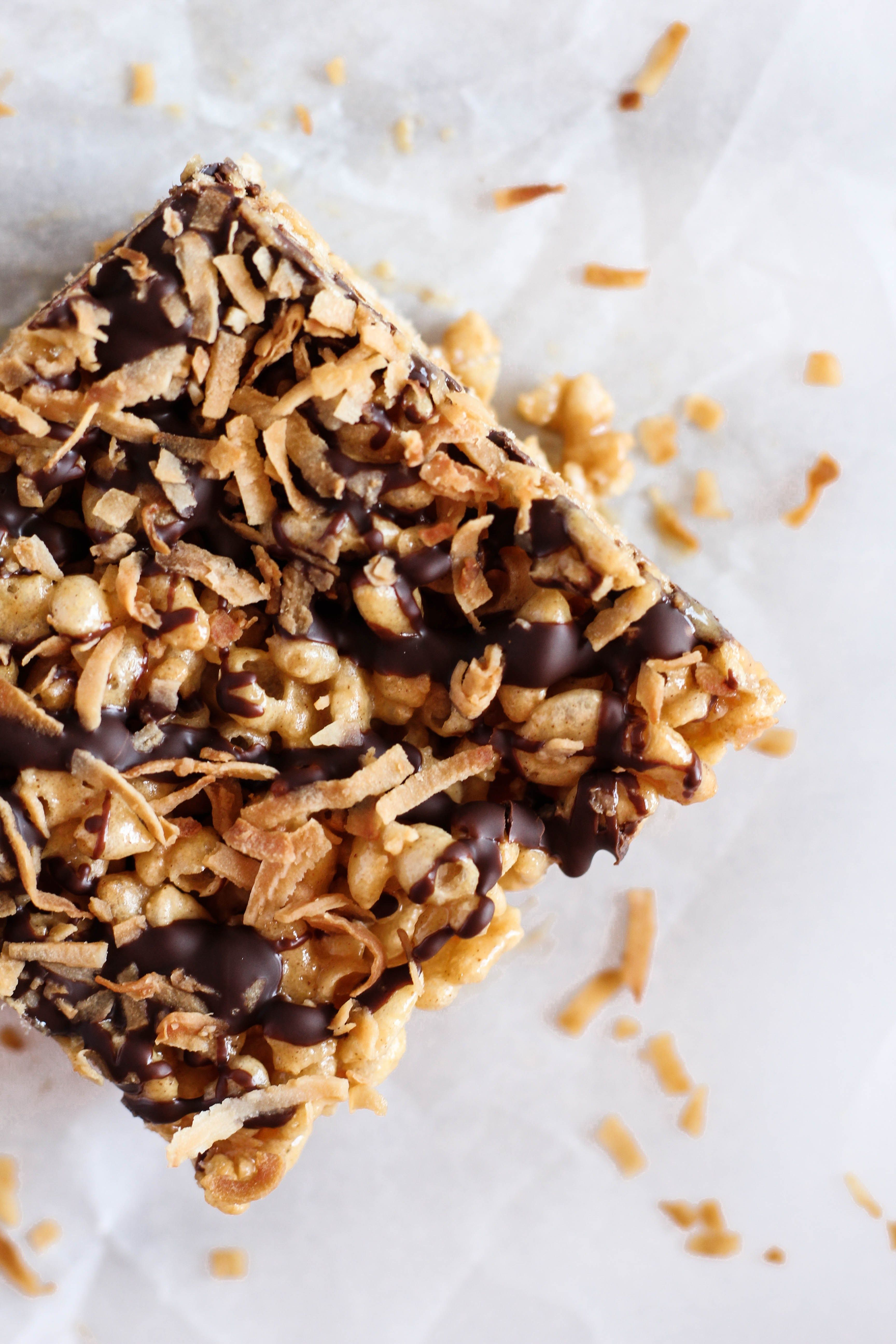 Dark Chocolate Coconut Rice Crispy Treats | Recipe | Rice ...
