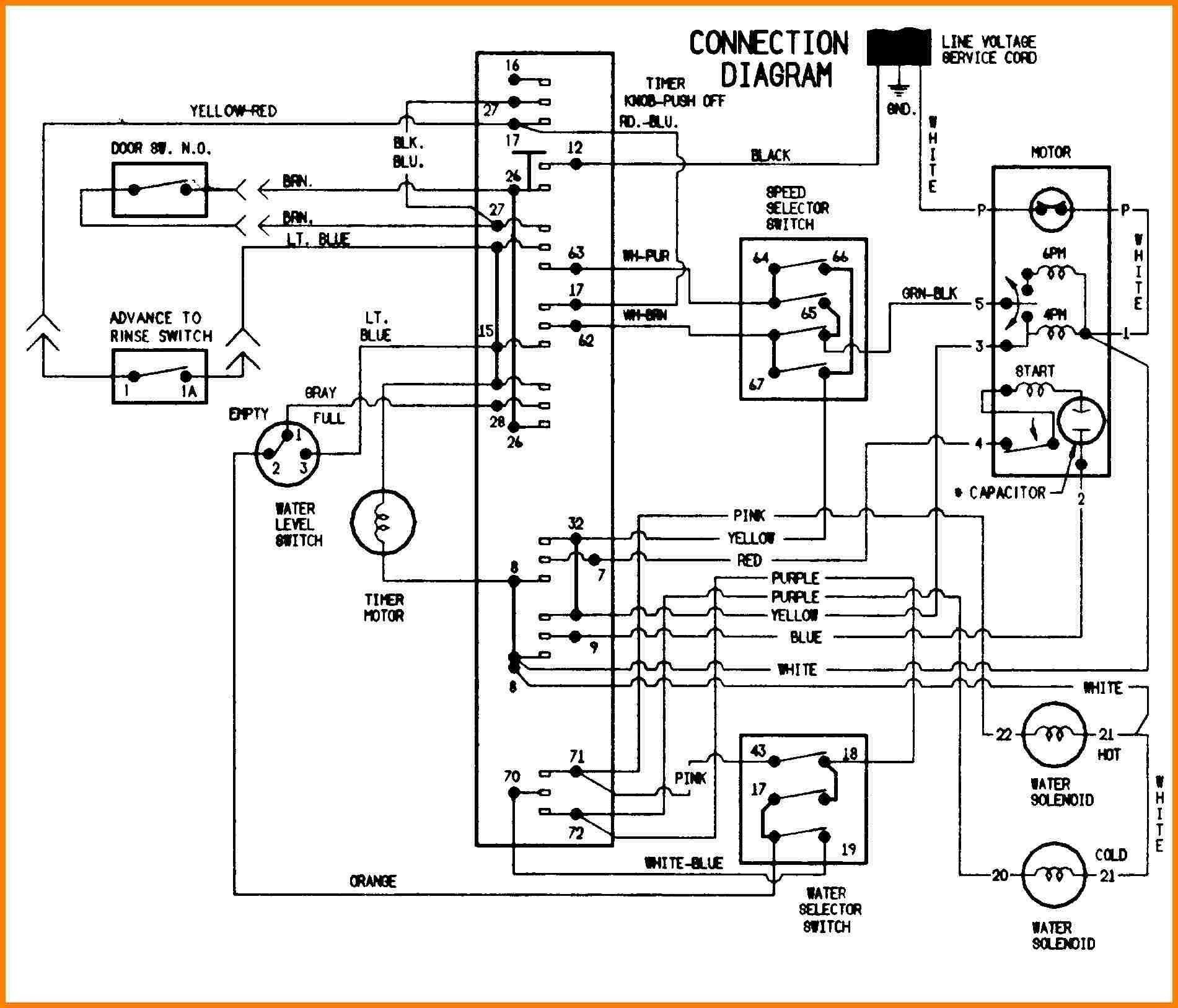 Contactor Wiring Diagram Ac Unit In 2020 Washing Machine Motor Circuit Diagram Washing Machine Whirlpool