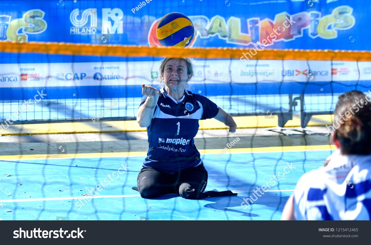 Milan Italy June 30 2018 Amputee Woman Volleyball Player During A Sports Summer Camp In Milan Ad Ad Sports Summer Camp Women Volleyball Milan Italy