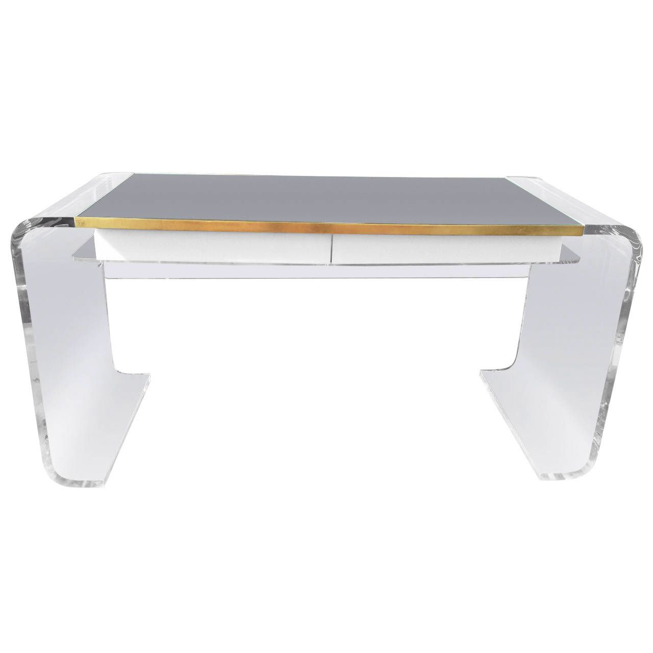 OFFICE DESK: Outrageous Vintage Lucite Waterfall Desk