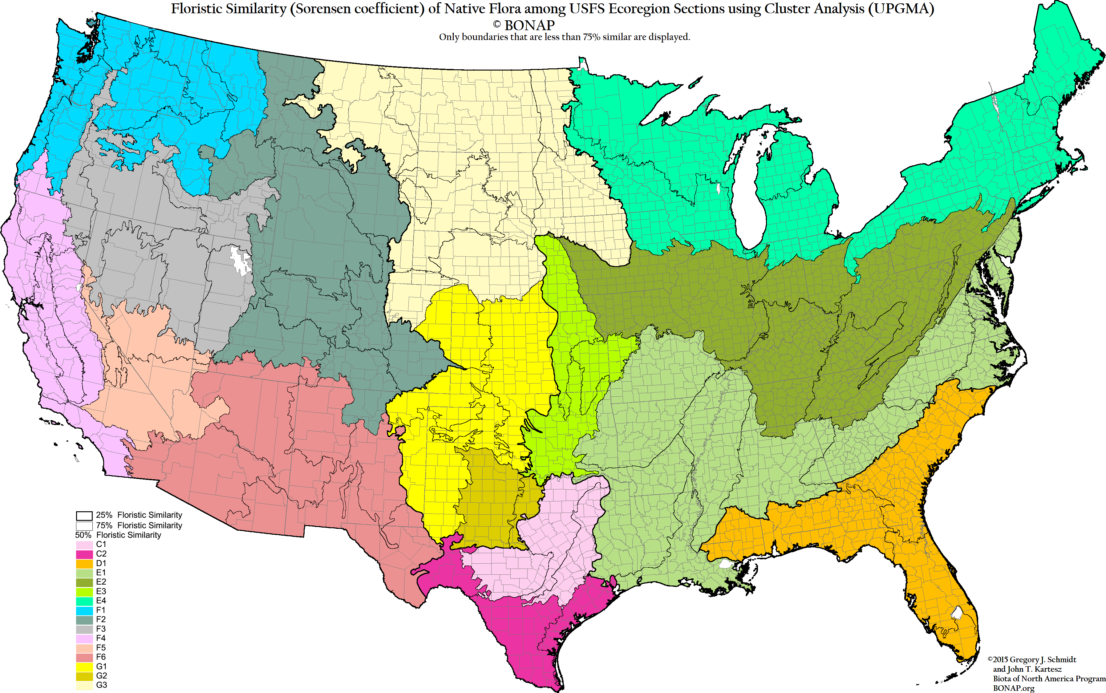 Floristic Regions Of The US Biogeography Pinterest - Contiguous us hillshade map