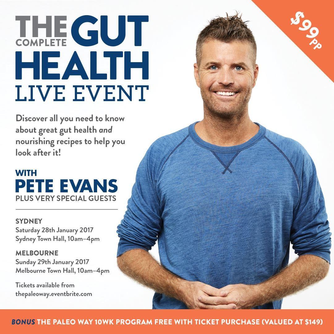 Gut Health Live Event MELBOURNE Giveaway Gut health
