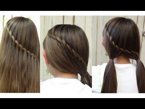 Upside down dutch braid, braided into a ponytail  #modernsalon #braidcontest @modernsalon # upside down dutch Braids